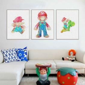 картины для детской комнаты виды идеи