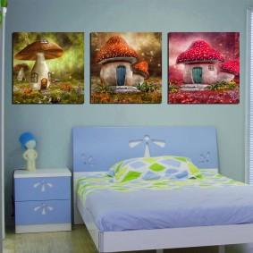 картины для детской комнаты дизайн фото