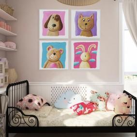 картины для детской комнаты дизайн идеи