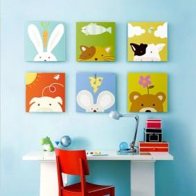 картины для детской комнаты идеи дизайн