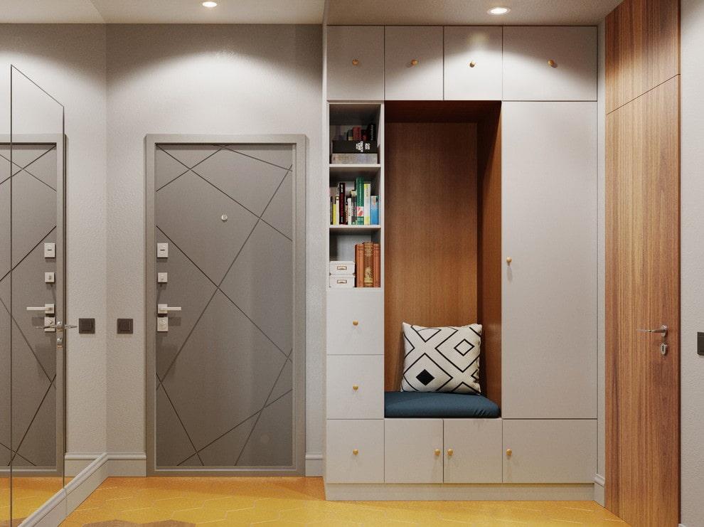 Комбинированный шкаф для хранения одежды в коридоре