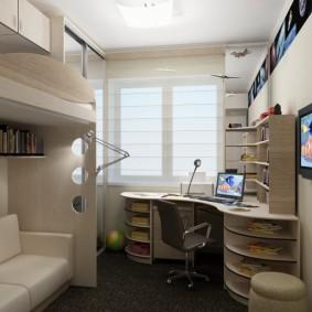 комната 16 кв м в однокомнатной квартире идеи дизайн