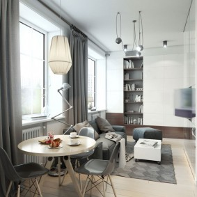 комната 16 кв м в однокомнатной квартире декор фото