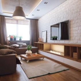 комната 16 кв м в однокомнатной квартире фото интерьера