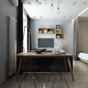комната 16 кв м в однокомнатной квартире идеи интерьер