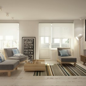 комната 16 кв м в однокомнатной квартире идеи интерьера
