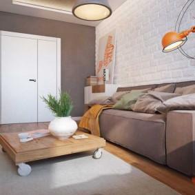 комната 16 кв м в однокомнатной квартире оформление