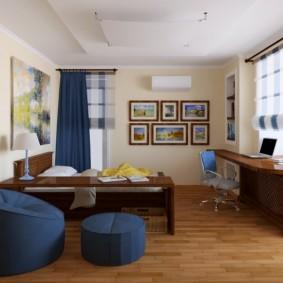 комната 16 кв м в однокомнатной квартире фото видов