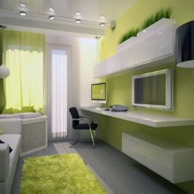 комната 16 кв м в однокомнатной квартире виды идеи