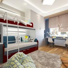 комната 16 кв м в однокомнатной квартире фото идеи