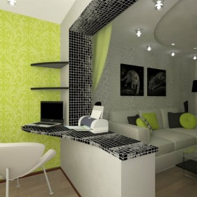 комната 16 кв м в однокомнатной квартире фото дизайн
