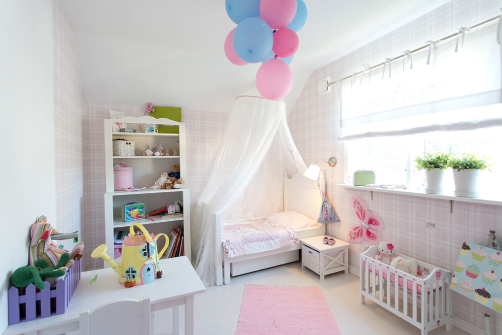 Красивый интерьер комнаты девочки дошкольного возраста