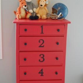 комод для детской комнаты идеи декора