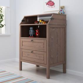 комод для детской комнаты интерьер