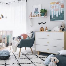 комод для детской комнаты фото интерьер