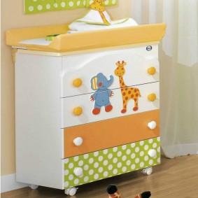 комод для детской комнаты виды