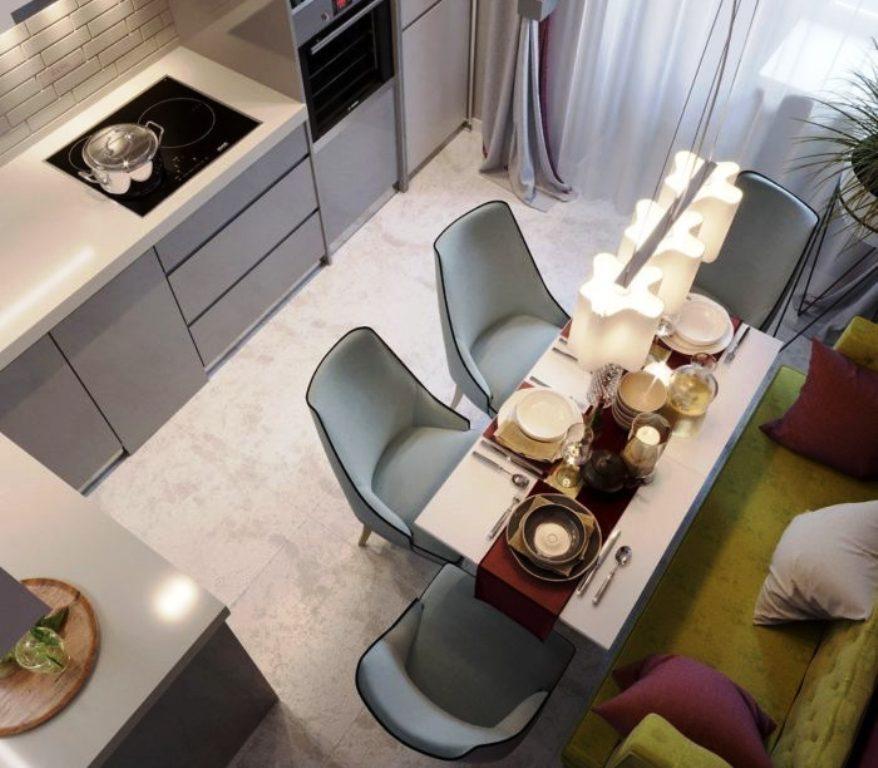 кухня 9 кв м фото