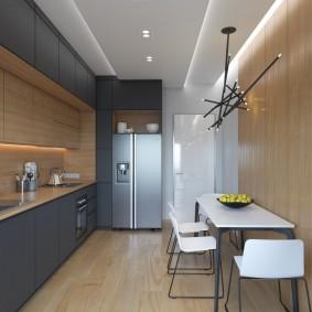 кухня 9 кв м минимализм