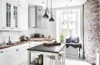 кухня 9 кв м скандинавский стиль