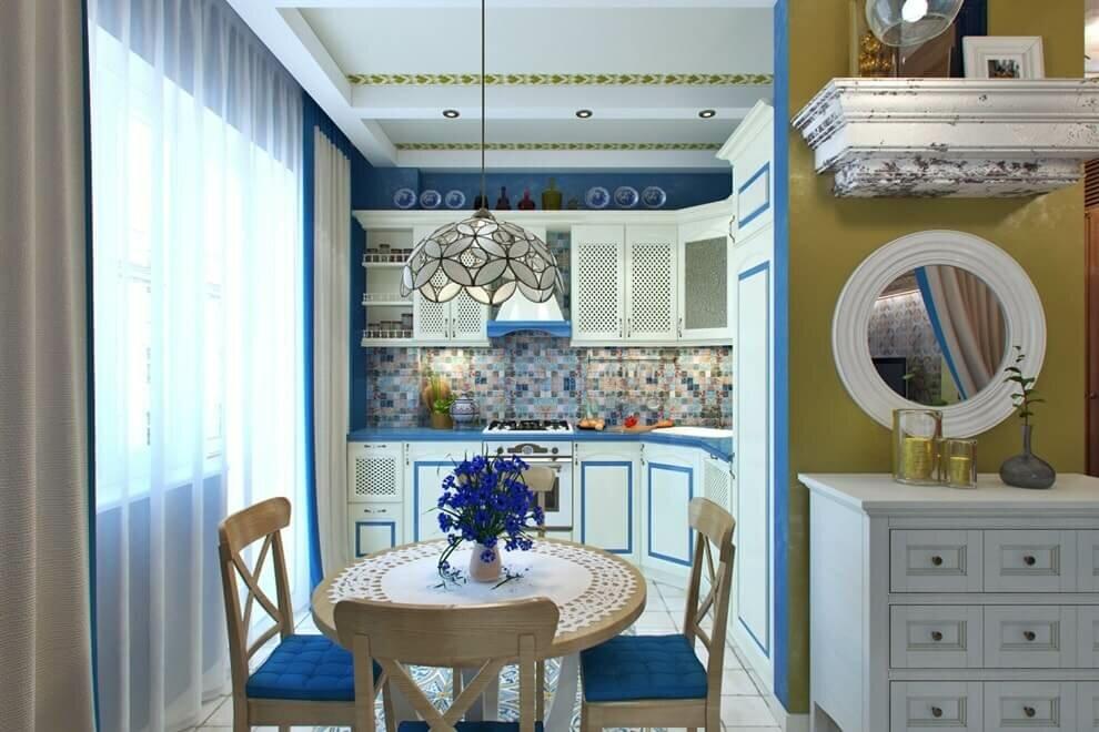 кухня 9 кв м в средиземноморском стиле