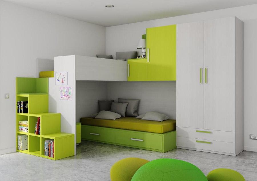 Набор модульной мебели в современную детскую комнату