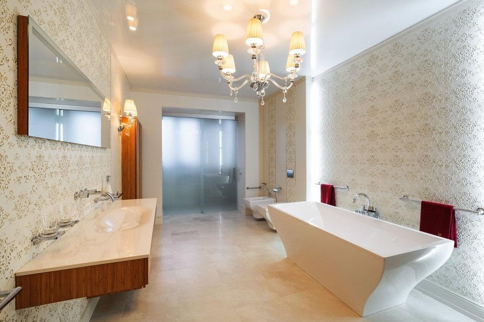люстры для натяжных потолков в ванной