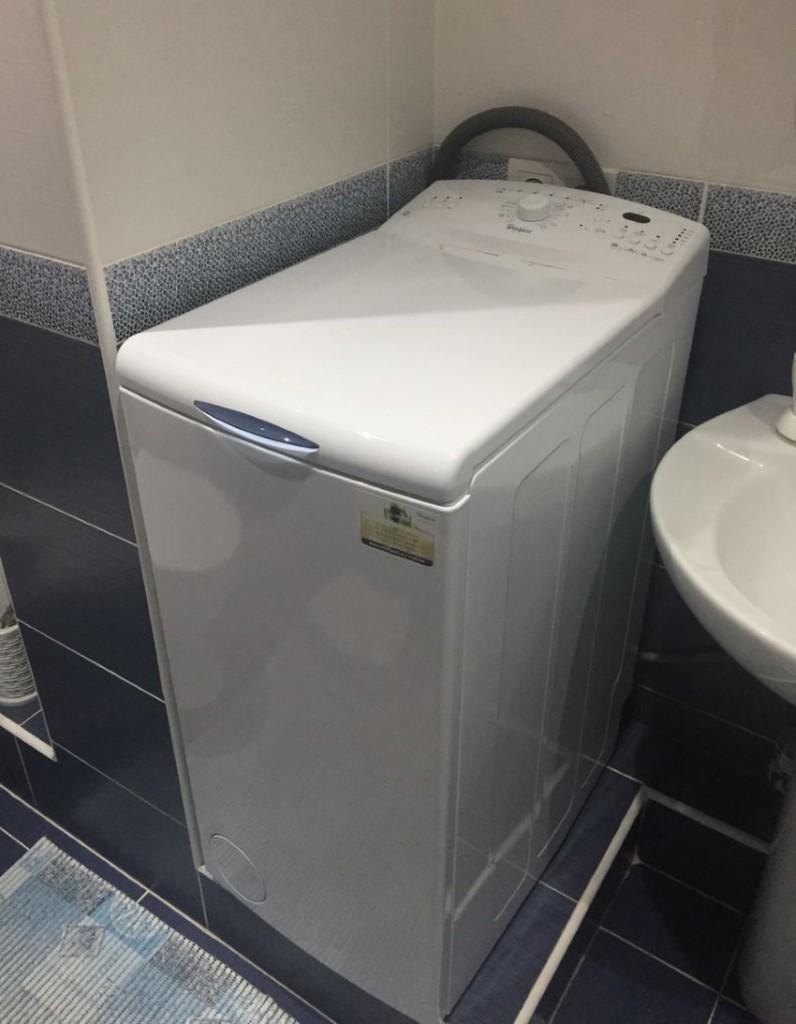 Узкая стиральная машинка с вертикальной зарузкой