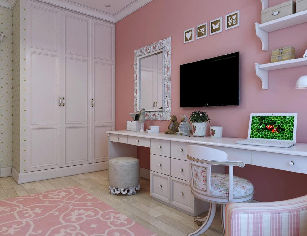 Мебель для комнаты девочки в стиле неоклассики