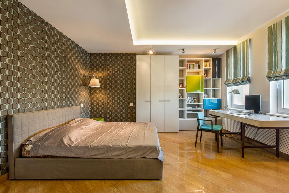 Корпусная мебель в комнате девочки подросткового возраста
