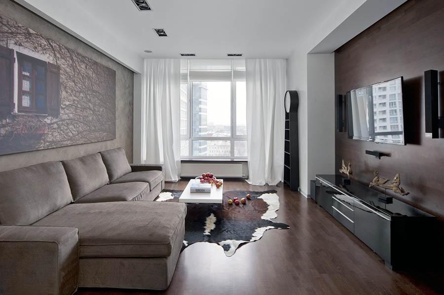 Меблировка гостиной в панельном доме