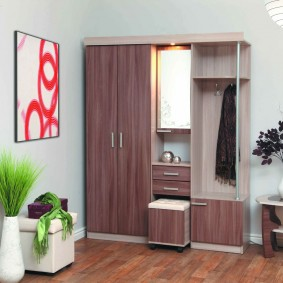 мебельная стенка в прихожую идеи декора