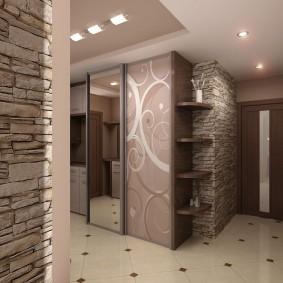 мебельная стенка в прихожую интерьер фото