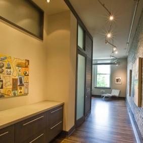 мебельная стенка в прихожую фото оформление