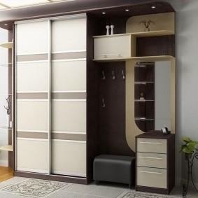 мебельная стенка в прихожую оформление идеи