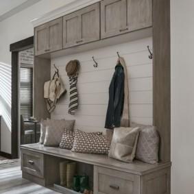 мебельная стенка в прихожую виды оформления
