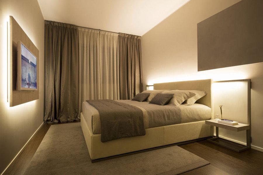 Минимализм в интерьере спального помещения