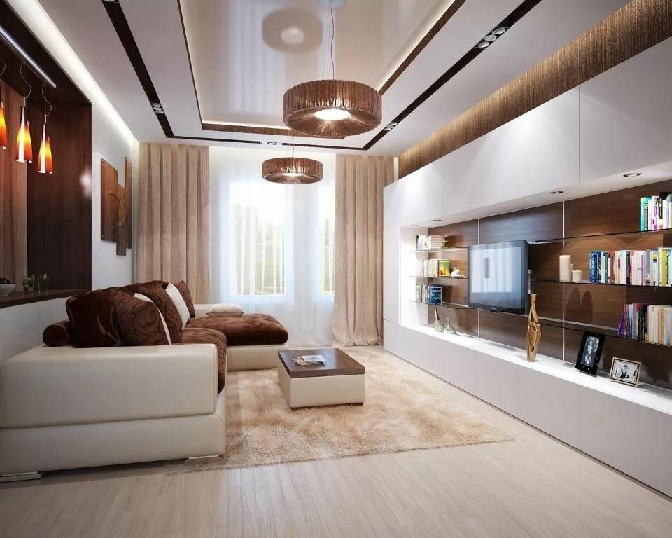 Дизайн гостиной хрущевки в стиле модерн