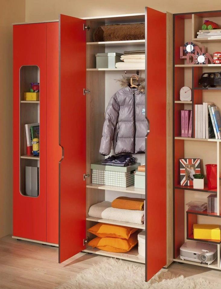 Внутреннее наполнение детского модульного шкафа
