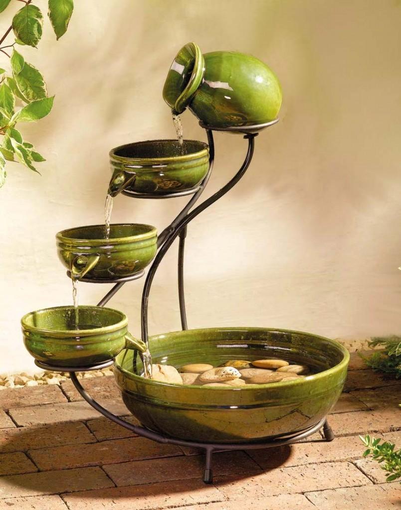 Настольные декоративный фонтанчик из керамики