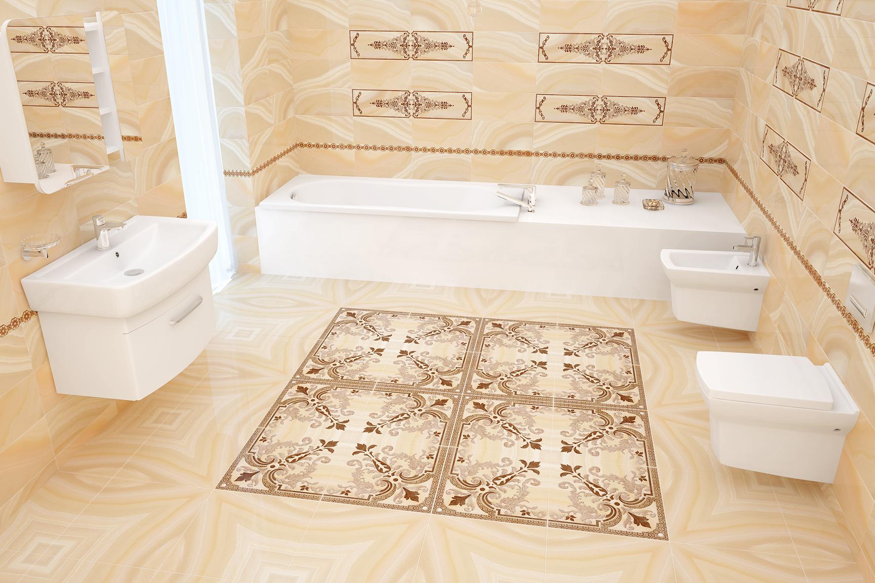 нескользящая плитка в ванной
