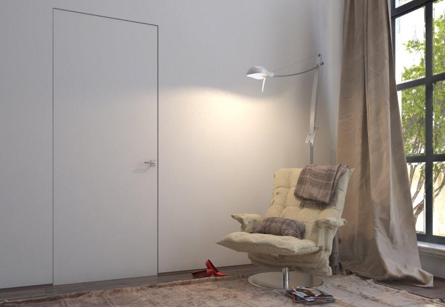 Незаметная дверь в гостиной комнате