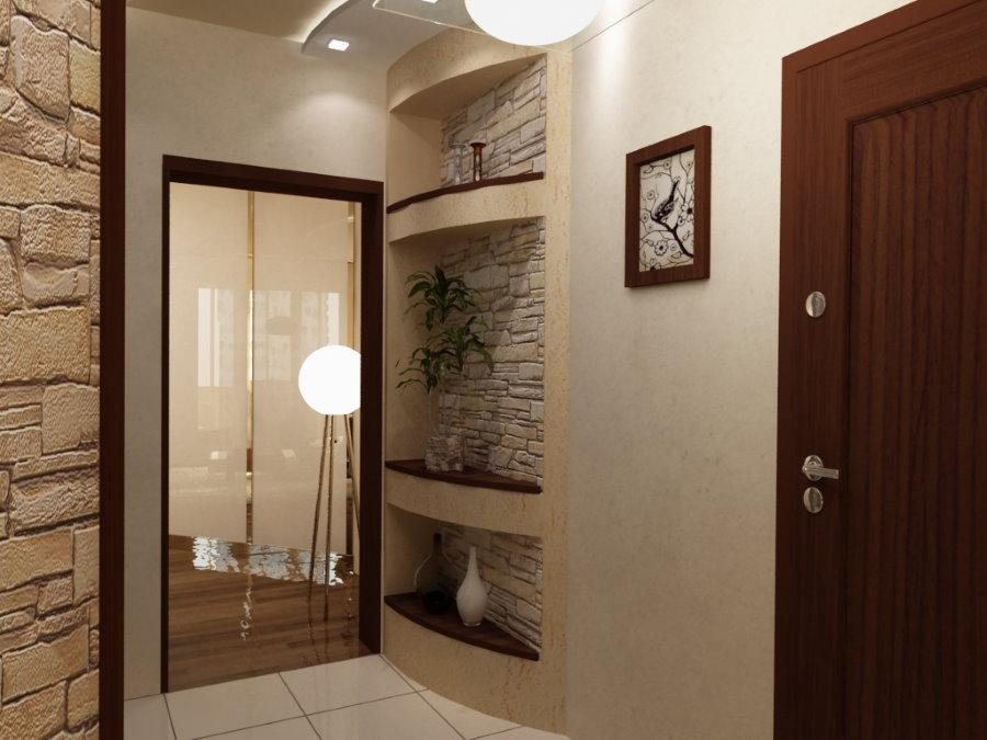 Ниши с декорациями в стене прихожей