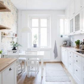 обои для маленькой кухни идеи дизайн