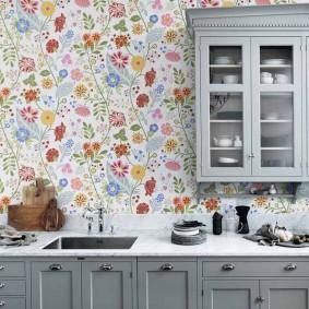 обои для маленькой кухни фото декор