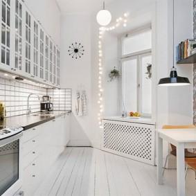 обои для маленькой кухни идеи интерьер