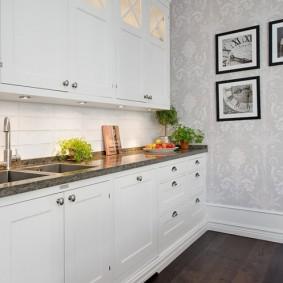 обои для маленькой кухни фото вариантов
