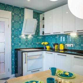 обои для маленькой кухни дизайн фото