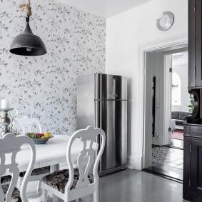 обои для маленькой кухни фото дизайн