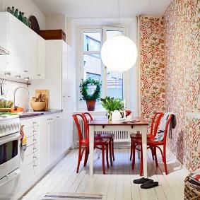 обои для маленькой кухни фото дизайна