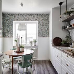 обои на маленькую кухню дизайн